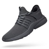 QANSI Mens Sneakers Slip-on Lightweight Athletic Running Walking Gym Shoes