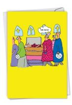 C6195BDG That B Dress: Hysterical Birthday Card Featuring Two Women Wearing the Same Dress to a Funeral, with Envelope.
