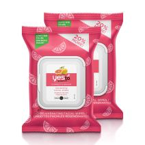 Yes To Grapefruit Correct & Repair Rejuvenating Facial Wipes for Uneven Skin Tone, 30 Count (Pack of 2)