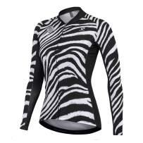 NUCKILY Women's Cycling Jersey Long Sleeve with 3 Pockets Bike Bicycle Clothing Biking Riding Shirts Cycle Wear