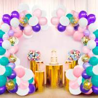 NORTHERN BROTHERS Unicorn Balloons Garland Kit 118 Pcs Purple Pink Blue White Assorted Latex Balloons Baby Shower Unicorn Party