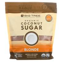 Big Tree Farms Organic Coconut Sugar Blonde, Vegan, Paleo, Gluten-Free, Non-GMO, Low Glycemic, Unrefined and Fair Trade, Natural Sweetener, 2 Pound (Packaging May Vary)
