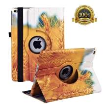 """New iPad 9.7 inch 2018 2017/ iPad Air Case - 360 Degree Rotating Stand Smart Cover Case with Auto Sleep Wake for Apple iPad 9.7"""" (6th Gen, 5th Gen)/iPad Air(Wheat)"""