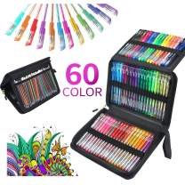 ZSCM 120 Glitter Gel Pens Fine Point Markers Art Set 60 Colored Pen with 60 Refills for Unique Colors for Adult Bullet Journal Coloring Books Kids Doodling Drawing Pens with 40% More Ink (60 colors)