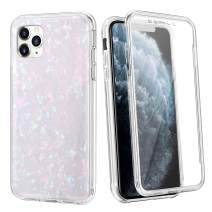 Coolden Case for iPhone 11 Pro with Built-in Screen Protector Cute Bling Glitter Case Rugged Dual Layer Full Body Shockproof Cover Anti-Scratch Case for 2019 5.8 Inch iPhone 11 Pro, Shell