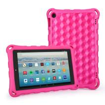 Auorld Fire HD 10 Tablet, Kindle Fire 10 Case (2019&2017/2015 Release) Anti Slip Shockproof Light Weight Kids Friendly Protective Case for Amazon Fire 10.1 inch Display Tablet - Pink