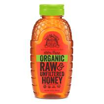 Nature Nate's USDA Certified Organic, Raw & Unfiltered Honey; 16oz. Squeeze Bottle; Straight from the Hive