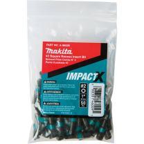 Makita A-96528 Impactx 2 Square Recess 1″ Insert Bit, 50 Pack, Bulk