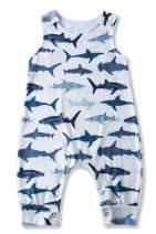 TUONROAD Newborn Baby Shark Onesie Toddler Boys Girls Dinosaur Romper 3D Pattern Sleeveless Bodysuit for 0-24M