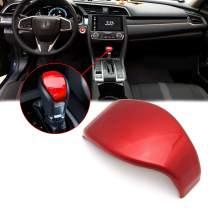 Xotic Tech Red Interior Gear Shift Knob Cover Decorative Trim for Honda Civic 10th Gen 2016 2017 2018 2019 2020 Automatic Transmission