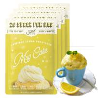 SWEET LOGIC Keto Dessert Mug Cake Mixes - Sugar Free Gluten Free Keto Snack - 4 Keto Mug Cake Mixes - Lemon Poppyseed - Diabetic Friendly Keto Sweets and Treats