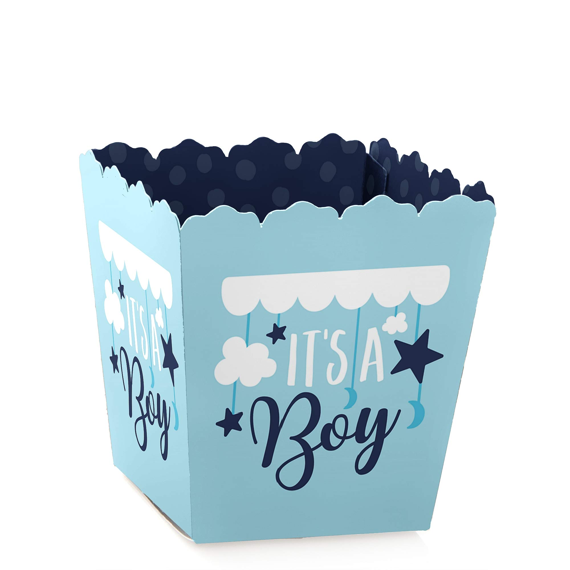 It's a Boy - Party Mini Favor Boxes - Blue Baby Shower Treat Candy Boxes - Set of 12