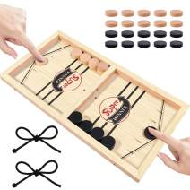 Boby Fast Sling Puck Game,Wooden Table Hockey Game Foosball Winner Board Games,Parent-Child Interactive Chess Toy,Sling Hockey Table Game for Adults and Kids