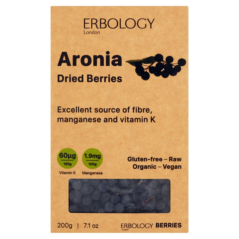 Organic Dried Aronia Berries 7.1 oz - Source of Fiber, Manganese, Vitamin K and Anthocyanins - Chokeberry