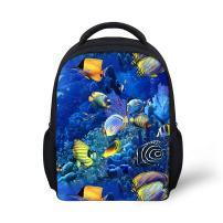 YOUNGERBABY 12inch Tropical Fish Backpack School Bag For Kindergarten Kids