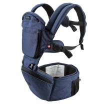 MiaMily Hipster Plus 3D Forward-Facing Baby Carrier and Baby Sling with 9-Supportive Carry Positions Dark Blue