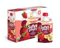 Happy Tot Organic Stage 4 Super Smart Organic Toddler Food Bananas/Beets/Strawberries, 4 Ounce Pouch (Pack of 16) (Packaging May Vary)