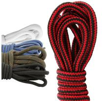 (5 PACK PAIRS) DailyShoes Round Hiking Shoelaces, Strong Durable, Summery Anna