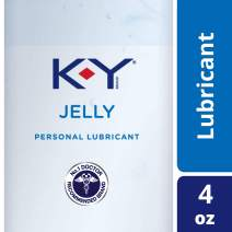 K-Y Jelly Premium Water Based Lube- Personal Lubricant Safe To Use With Latex Condoms, Devices, Sex Toys and Vibrators, 4 oz