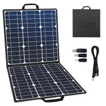 GOFORT Portable Foldable Solar Panel Charger 50W 18V Solar Charger for Suaoki/Jackery/Enkeeo/ROCKPALS Portable Power Station Generator for Outdoor Camping Climbing Hiking Travel