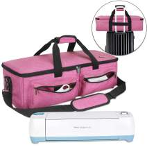 Luxja Carrying Bag Compatible with Cricut Explore Air and Maker, Tote Bag Compatible with Cricut Explore Air, Silhouette Cameo 4 and Supplies (Bag Only), Pink
