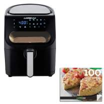 GoWISE USA GW22953 4-Quart Air Fryer with Viewing Window and 8 Presets, 4-QT, Black