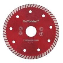 "GoYonder 4.5 Inch Diamond Tile Blade Super Thin Turbo Rim Concrete Porcelain Saw Blade with 7/8"" Arbor for Cutting Porcelain Tile Granite Marbles"
