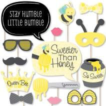 Big Dot of Happiness Honey Bee - Baby Shower or Birthday Party Photo Booth Props Kit - 20 Count