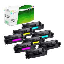 TCT Premium Compatible Toner Cartridge Replacement for HP 410X CF410X CF411X CF412X CF413X High Yield Works with HP Laserjet Pro M452DN M452DW M452NW Printers (Black, Cyan, Magenta, Yellow) - 8 Pack