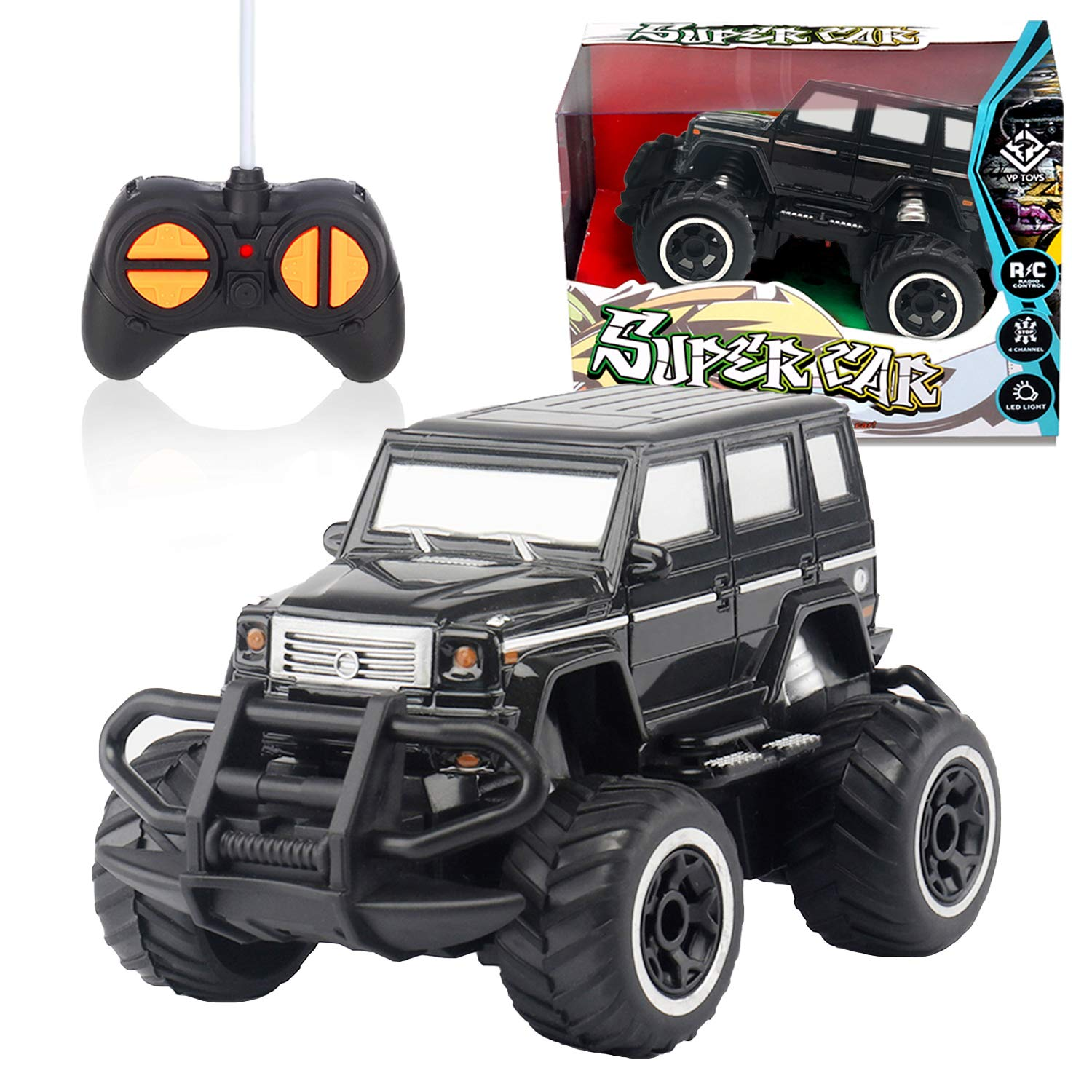Mycaron Little Boy Gifts Remote Control Car for Boys 3-5 ,Toys Vehicles RC Trucks for 3-5 Year Old Boys,Kids Toys Toddlers Cars 4WD 1/43 Scale(BlackBenz)