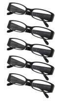 5-Pack Ladies Reading Glasses (Black,+2.75)