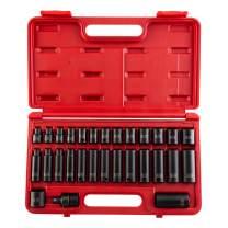 Sunex 3329 3/8-Inch Drive Standard and Deep Metric Impact Socket Set, Metric, Standard/Deep, 6-Point, Cr-Mo, 8mm - 22mm, 29-Piece