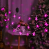 Star String Lights, 100 LED Plug in Fairy String Lights Waterproof for Indoor, Outdoor, Ramadan, Wedding, Party, Christmas, Ramadan, New Year, Garden Decoration (Pink)