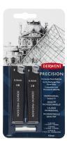 Derwent Mechanical Pencils 0.5, Metal Barrel Refill Set, Precision, HB (2302430)