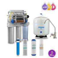 Max Water 10 Stage Home Reverse Osmosis System/Reverse Osmosis Water Filtration System/RO System RO Water Purifier 50 GPD RODI System, UV Filter PH 3-1 Alkaline Water Filter BN DX Faucet