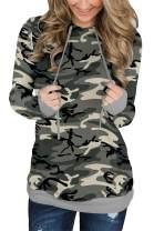 MODARANI Womens Pullover Hoodie Sweatshirts Casual Tunic Tops Kangaroo Pocket Shirts Tie Dye&Floral Print