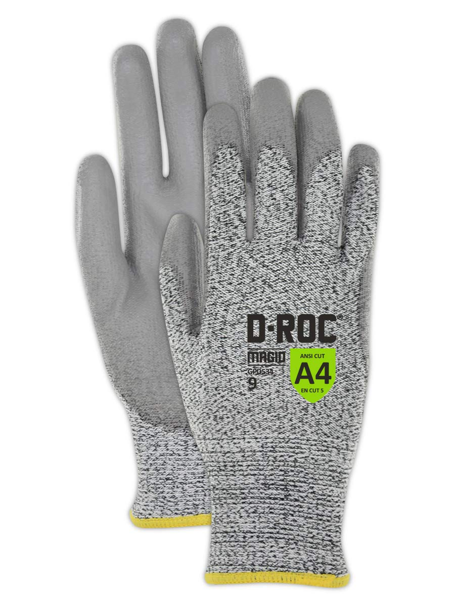 Magid Safety D-ROC HPPE Gloves with Polyurethane Palm Coating