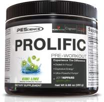 PEScience Prolific Pre Workout, Kiwi Lime, 40 Scoops, Energy Supplement with Nitric Oxide