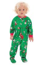 PajamaGram Infant Christmas Pajamas Soft - Charlie Brown & Friends Baby Onesie