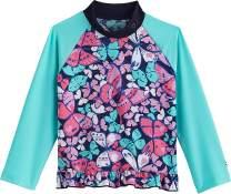 Coolibar UPF 50+ Baby Girls' Ruffle Swim Shirt - Sun Protective