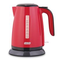 Dash DEZK003RD Easy Electric Kettle + Water Heater with Rapid Boil, Cool Touch Handle, Cordless Carafe + Auto Shut off for Coffee, Tea, Espresso & More, 57 oz. / 1.7L, Red