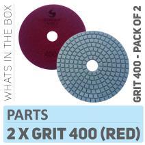 "Stadea PPW123D Diamond Polishing Pads 4"" For Concrete Terrazzo Stone Marble Granite Countertop Floor Wet Polishing, Grit 400 - Pack of 2"
