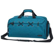 Sports Gym Bag Travel Duffel with Shoes Compartment for Men&Women (green)