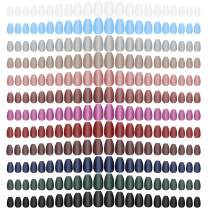 288 Pieces Colorful Short Faulse Nails Square Nails Square Artficial Face Nail Full cover Coffin Press on Nails Colorful 12 Sheets Full Cover Artificil Acrylic Nails(Assorted Colors)