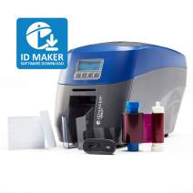 ID Maker Apex Professional ID Card Printer - Prints Premium Quality Pictures Fast & Easy - Easiest to Use Software – 1-Sided Badge Printer Machine