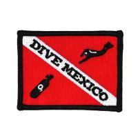 Dive Mexico Patch Scuba Souvenir Travel Sport Embroidered Iron On Applique