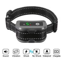 Focuspet Dog Bark Collar, Rechargeable Anti-Barking Control Bark Collar with Shock Mode and No Shock Mode Suitable for All Dogs