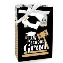 Big Dot of Happiness Law School Grad - Future Lawyer Graduation Party Favor Boxes - Set of 12