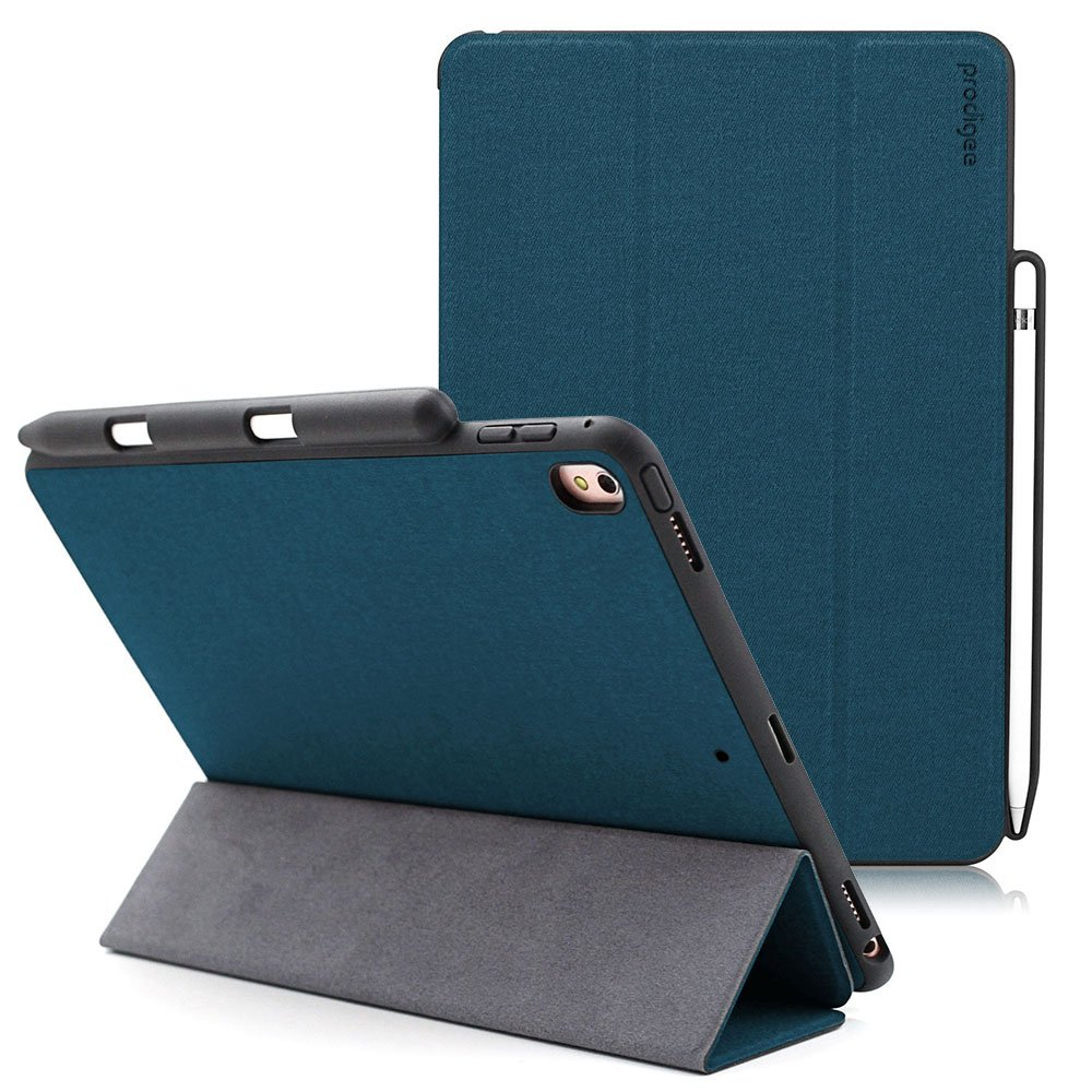 Prodigee [Expert] Blue for iPad Air 10.5'' (2019) - iPad Pro 10.5 (2017) Protective Magnetic Flap Smart Case Hard Impact Resistant Cover with Stand Capability Auto Sleep/Wake Pencil Holder