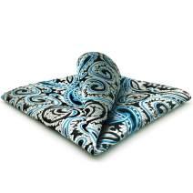 SHLAX&WING Mens Ties Silver Blue Black Neckties Silk New Design Patterned